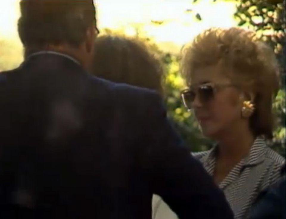 Liz Taylor à Céligny - TJ midi du 12 août 1984. [RTS]