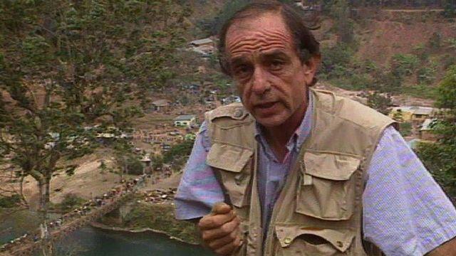Philippe Dahinden, co-fondateur de la Radio Hirondelle, 1994. [RTS]