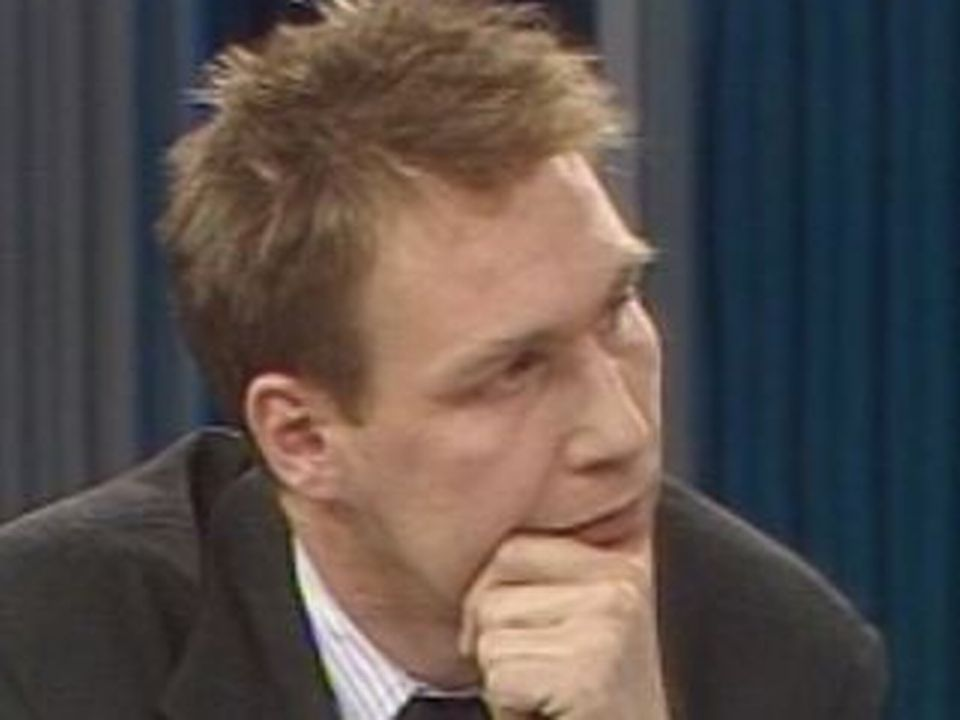 Le journaliste Jean-Philippe Ceppi en 1989. [RTS]