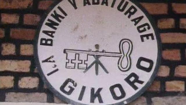 Logo d'une banque populaire au Rwanda, 1994. [RTS]