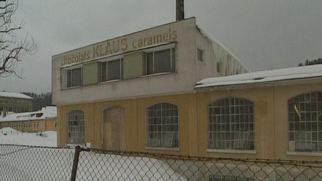 L'usine Klaus au Locle en 1991. [RTS]