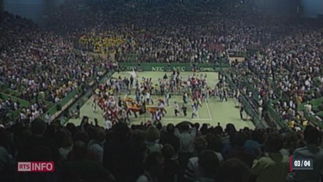 Tennis - Coupe Davis: une tribune de 16'000 places à été construite à Palexpo [RTS]