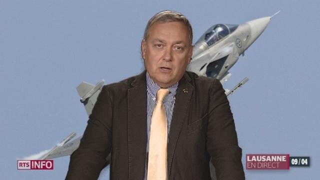 Pour Denis Froidevaux, président de la Société Suisse des Officiers, le Gripen est indispensable à la sécurité du pays [RTS]