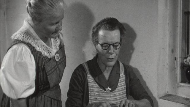 La dentellière de Gruyères en 1960. [RTS]