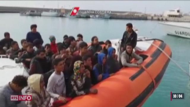 L'Italie fait face à une arrivée massive de migrants en provenance d'Afrique du Nord [RTS]