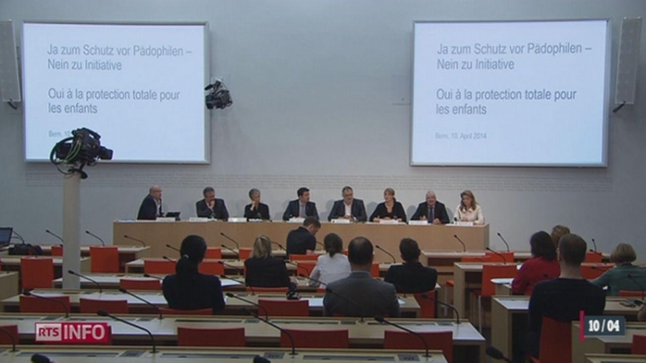 """Le Comité interparti pour le """"non"""" à l'initiative Marche Blanche présente ses arguments [RTS]"""