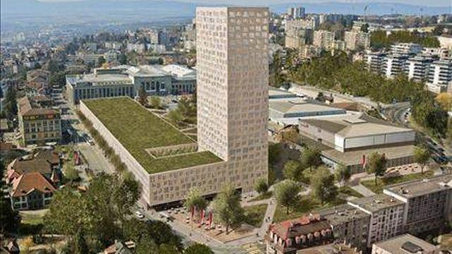 La tour Taoua suscite la polémique à Lausanne. [www.lausanne.ch]
