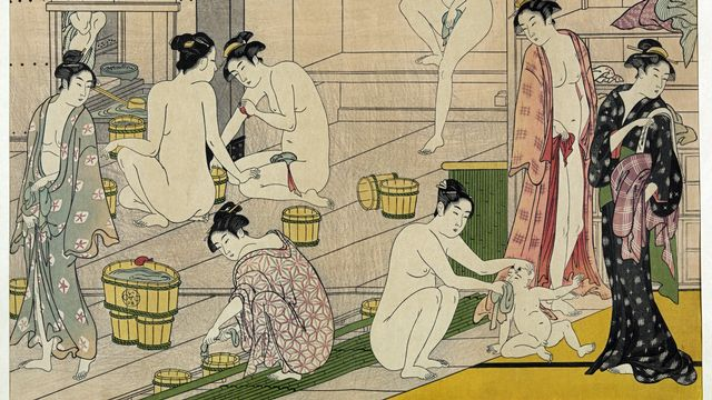 Kiyonaga bain des femmes, 2009. [Wikimedia commons.]