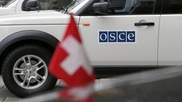 L'OSCE tente de pacifier la situation entre l'Ukraine et la Russie. [Peter Klaunzer - Keystone]