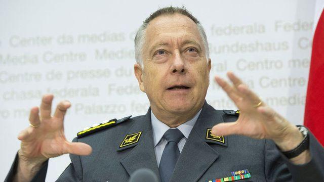 André Blattmann a détaillé ce mardi le plan d'économies de l'armée. [Marcel Bieri - Keystone]