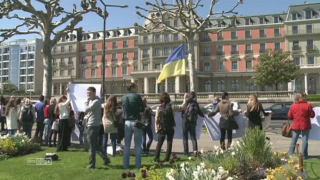 Manifestation pour l'unité de l'Ukraine à Genève [RTS]