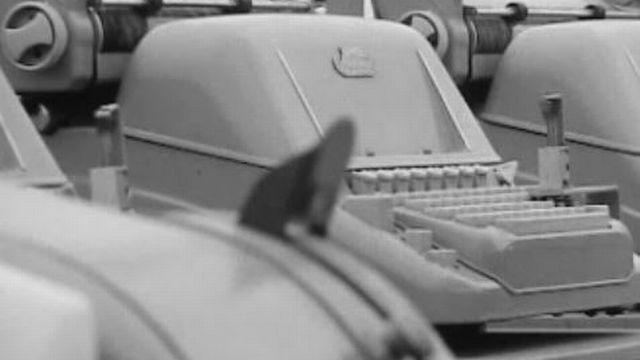 156 machines de bureau pour une Symphonie à l'Expo 64. [RTS]