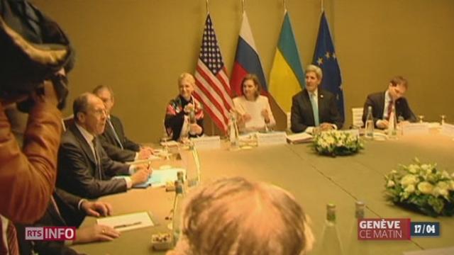 Crise ukrainienne: les discussions se prolongent à Genève [RTS]
