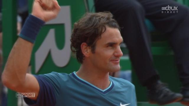 """1-4, Tsonga - Federer (6-2, 6-7, 1-6): Federer donne une véritable """"fessée"""" à Tsonga dans cette 3e manche et passe en demie [RTS]"""