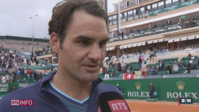 Tennis -  Tournoi de Monte-Carlo: Federer et Wawrinka sont en demi-finales [RTS]