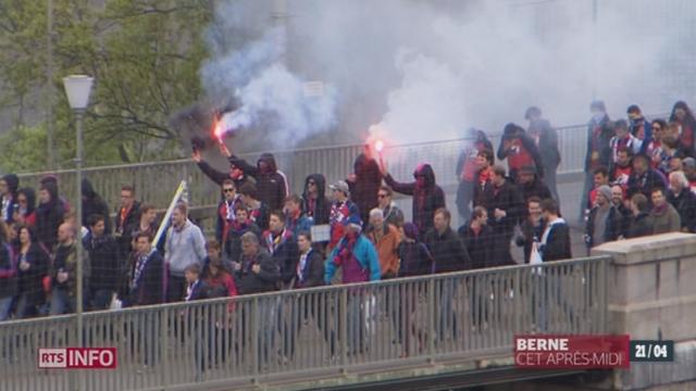 Football - Coupe de Suisse: la tension était vive dans la capitale [RTS]