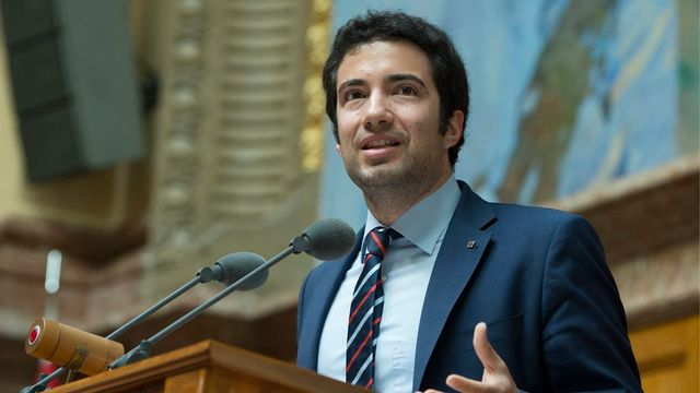 Andrea Caroni, conseiller national (PLR). [Peter Schneider - Keystone]
