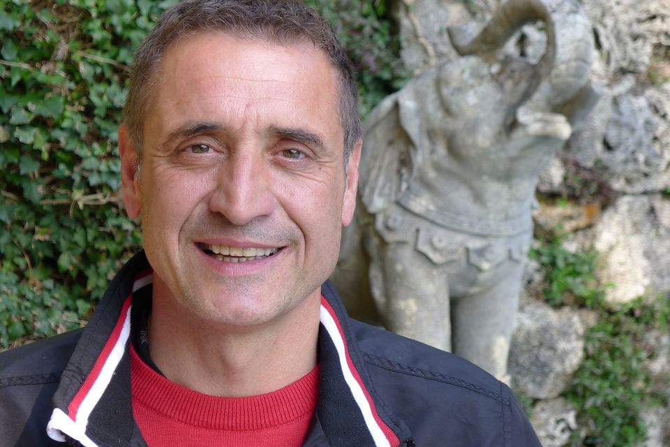Roberto Ferrari, le jardinier. [RTS]