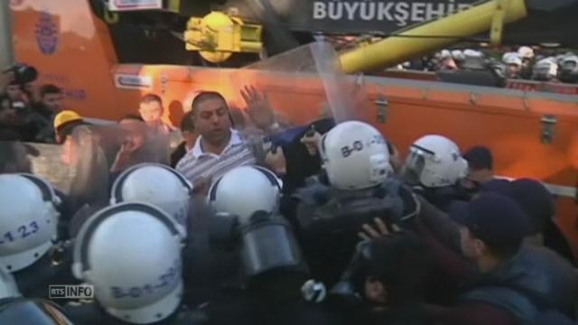 Tentative de manifestation du 1er mai à Istanbul [RTS]