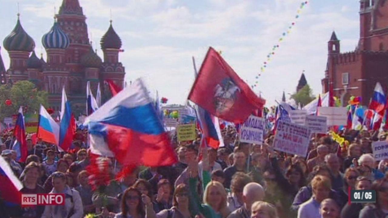 Russie: le 1er mai était marqué par le retour des syndicats sur la Place Rouge [RTS]