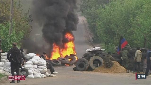 Ukraine: les forces armées lancent un raid à Slaviansk [RTS]