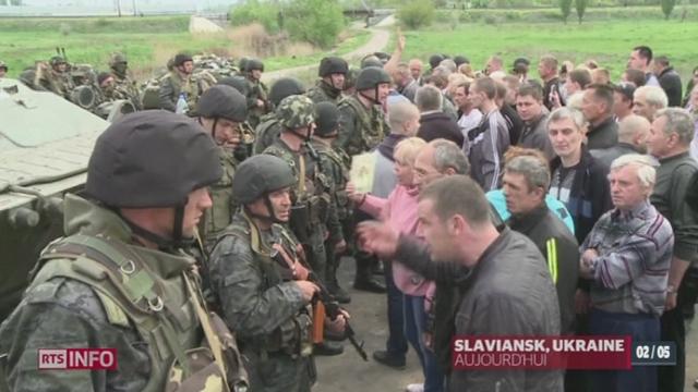 Ukraine: la tension monte sur le terrain et sur les relations internationales [RTS]