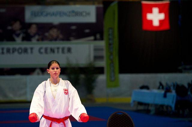 Fanny Clavien a une fois de plus porté très haut les couleurs suisses. [/Samuel Truempy - Keystone]