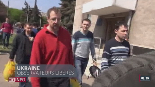 Les 7 observateurs de l'OSCE prisonniers en Ukraine ont été libérés [RTS]
