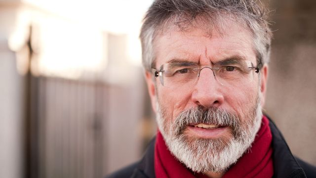 Gerry Adams est toujours en garde à vue ce samedi. [Leon Neal  - AFP]