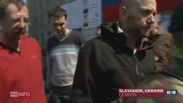 Crise ukrainienne: les observateurs de l'OSCE ont été libérés après d'intenses tractations [RTS]