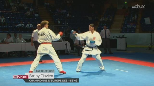 Karaté: Fanny Clavien est devenue championne d'Europe à Tampere (Finlande) [RTS]