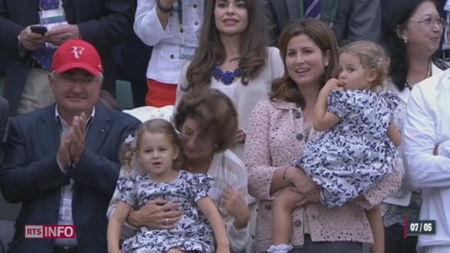 Roger Federer et Mirka Vavrinec viennent d'avoir à nouveau des jumeaux [RTS]