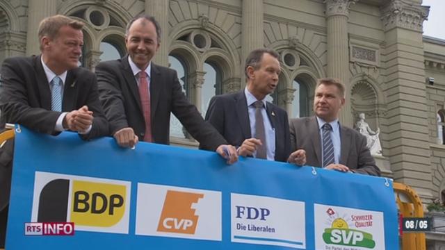 Gripen: les chefs des partis bourgeois affichent leur soutien [RTS]