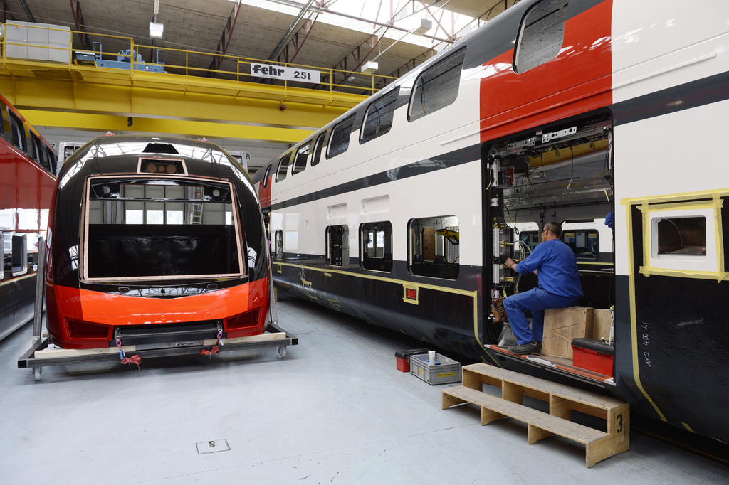 Chaîne de production de Stadler Rail à Altenrhein (SG).