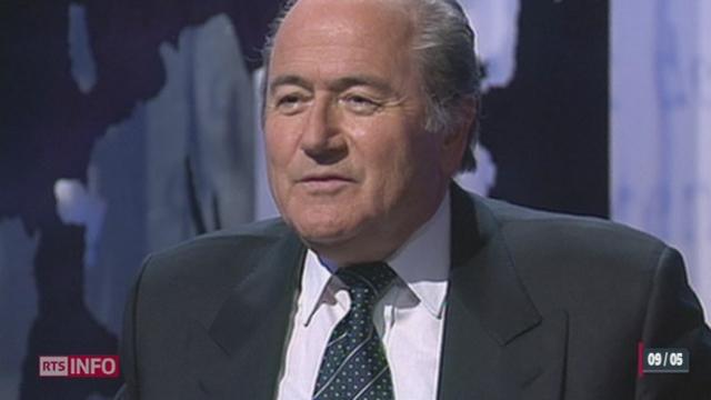 Sepp Blatter briguera un nouveau mandat à la tête de la FIFA à 78 ans [RTS]