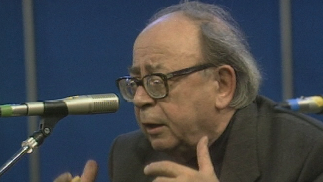 Georges Haldas en 1990 [RTS]