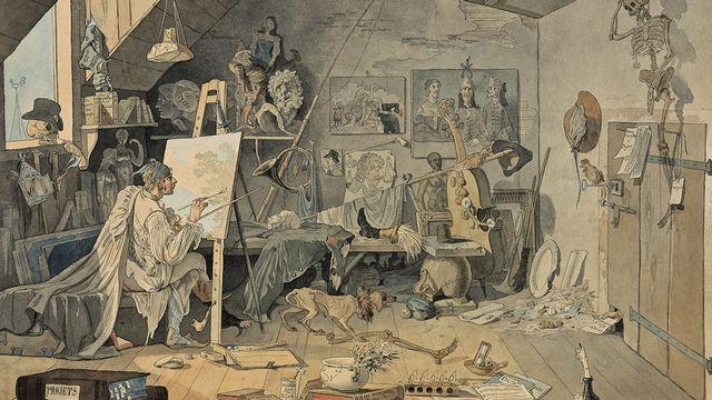 """Wolfgang-Adam Töpffer, """"L'Atelier du peintre"""", 1797. [B. Jacot-Descombes - Musées d'art et d'histoire, Genève]"""