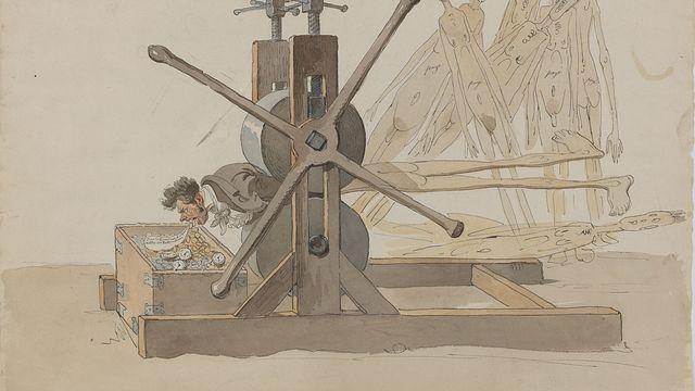 Wolfgang-Adam Töpffer, petit appareil servant à diminuer ou augmenter la générosité des citoyens, entre 1814 et 1819. [André Longchamp - Musées d'art et d'histoire, Genève]