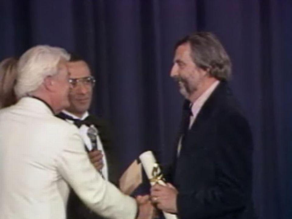 Alain Tanner primé à Cannes en 1981. [RTS]