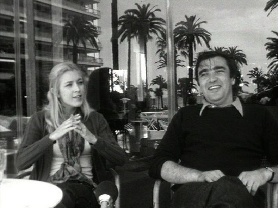 Michel Soutter et Marie Dubois au Festival de Cannes en 1972. [RTS]