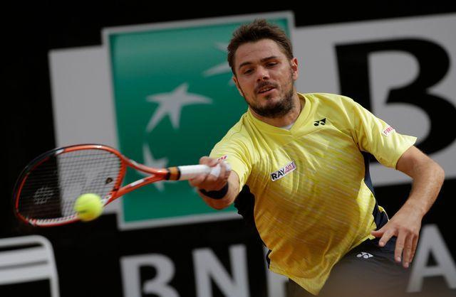 Wawrinka n'a plus atteint les quarts de finale à Rome depuis 2010. [Alessandra Tarantino - Keystone]