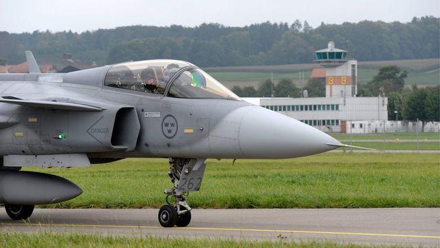 L'avion de combat suédois n'a pas convaincu les Suisses.  [Armasuisse - Keystone]