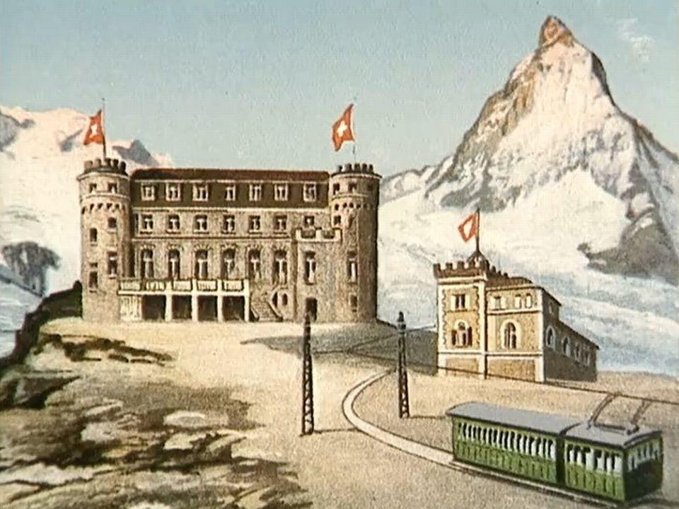 Le train du Gornergrat offre un panorama grandiose sur le Cervin...
