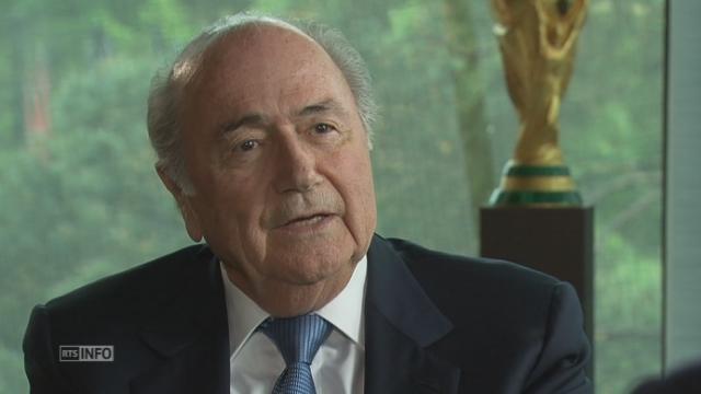 Blatter est candidat à sa propre succession, même à 78 ans. [RTS]