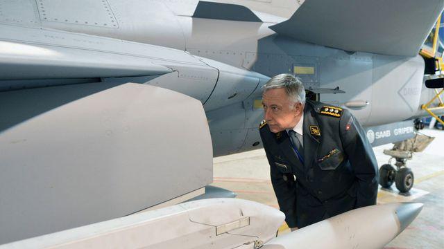 Le Gripen, un rêve qui s'évapore pour le chef de l'armée suisse André Blattmann. [Keystone]
