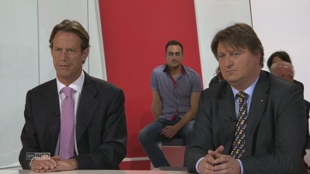 Les présidents de parti s'expriment au sujet du Gripen [RTS]