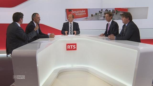 Les présidents de parti s'expriment au sujet du salaire minimum [RTS]