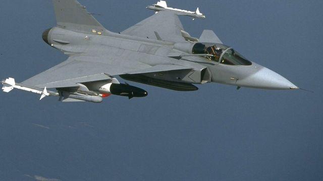 Le projet d'achat du Gripen est porté par le ministre Ueli Maurer. [Scanpix Sweden/Saab Aerosystem - AFP]