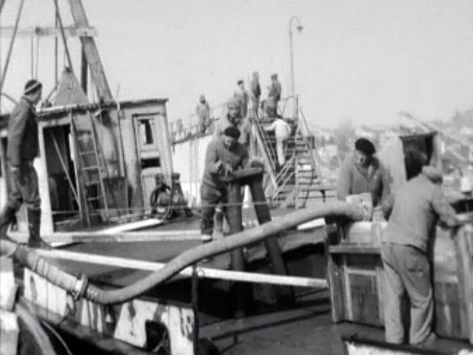 Que s'est-il passé? Plusieurs navires sont échoués dans le port.