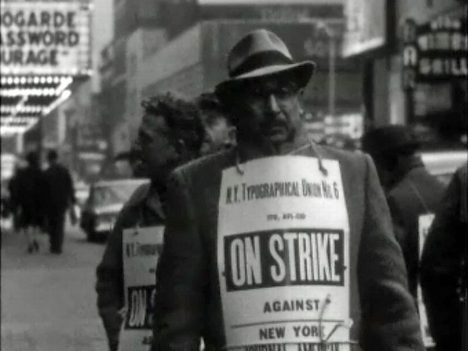 Plus de journaux à New York. Les typographes sont en grève.